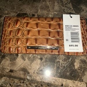 Brahmin Toasted Almond Melbourne Ady Wallet